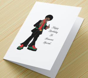 African American Boy Birthday Card D