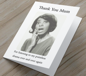 African American 'Pointless Drama' Mother's Day Card