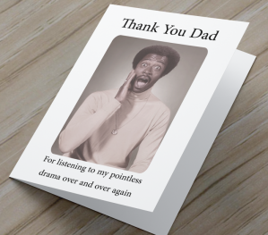 African American 'Pointless Drama' Father's Day Card
