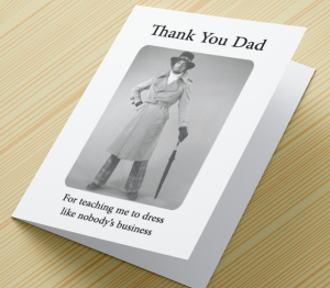 African American Card - Dress Like Dad