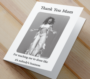 African American 'Dress Like Mum' Mother's Day Card