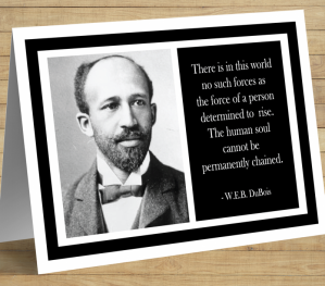 W.E.B. DuBois Greeting Card