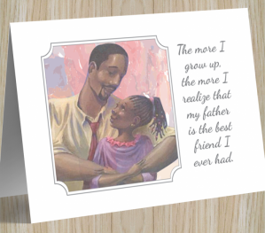 African American 'Best Friend' Father's Day Card