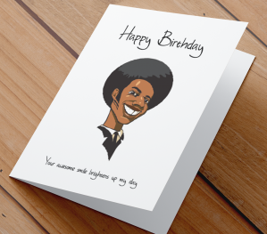 African American Male Birthday Card G