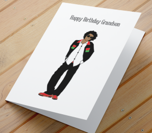 African American Boy C - Grandson Birthday Card