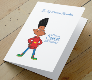African American Boy G - Grandson Birthday Card