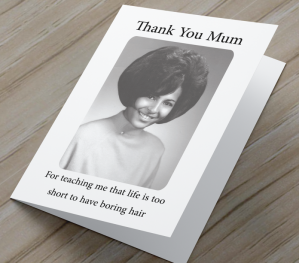 African American 'Boring Hair' Mother's Day Card