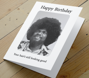 African American Male Birthday Card H