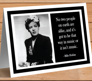 Inspirational Card - Billie Holiday A