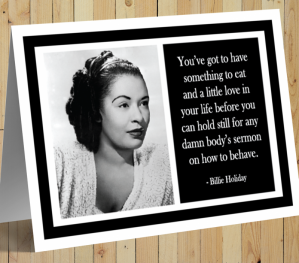 Inspirational Card - Billie Holiday B