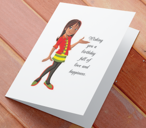 African American Girl Birthday Card K
