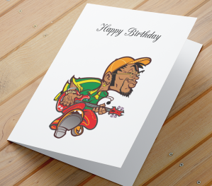 African American Male Birthday Card K