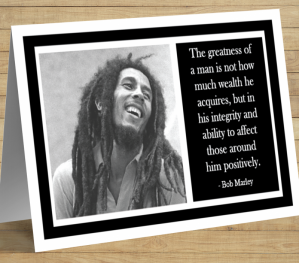 Inspirational Card - Bob Marley