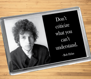Bob Dylan Fridge Magnet