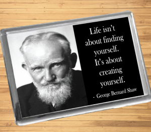 George Bernard Shaw Fridge Magnet
