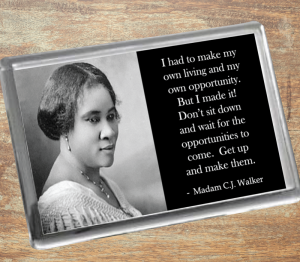 Madam C.J. Walker Fridge Magnet