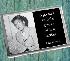 Claudia Jones Fridge Magnet
