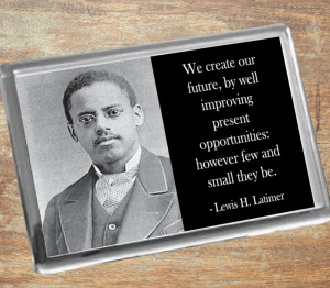 Lewis H. Latimer Fridge Magnet