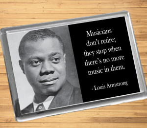Louis Armstrong Fridge Magnet