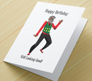 African American Male Birthday Card M