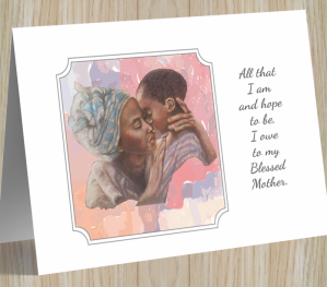 African American 'My Blessed Mother' Mother's Day Card