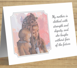 African American 'My Mother...' Mother's Day Card