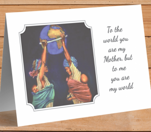 African American 'My World' Mother's Day Card