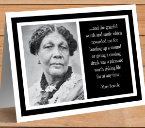 Inspirational Card - Mary Seacole