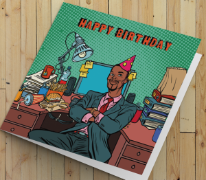 African American Man Birthday Card P