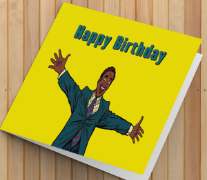 African American Man Birthday Card Q