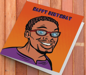 African American Man Birthday Card T