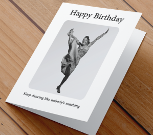 African American Woman Birthday Card Q
