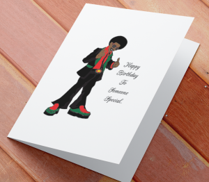 Birthday Card - African American Boy D