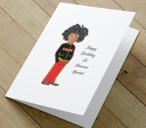 Birthday Card - African American Boy E