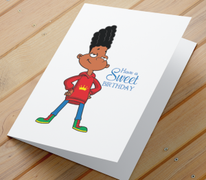 African American Boy G Birthday Card