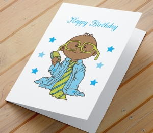 African American Boy A Birthday Card