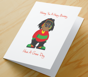Birthday Card - African American Boy B