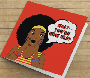 Birthday Card  - African American Girl T