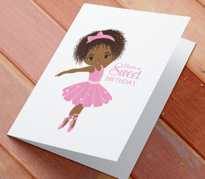 Birthday Card  - African American Girl U