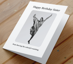 African American Woman Birthday Card Q - Sister