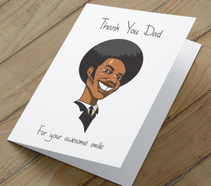 African American Card - Awesome Smile