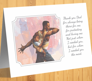 African American 'Always There' Father's Day Card